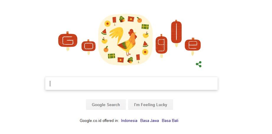 Google Rayakan Tahun Baru Imlek dengan Doodle Ayam Jago ...