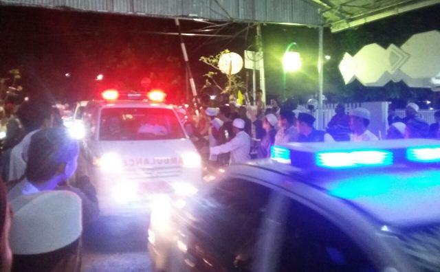 Suasana rumah duka Habib Abdurrahman Alhabsyi (Foto: Fakhrizal Fakhri)