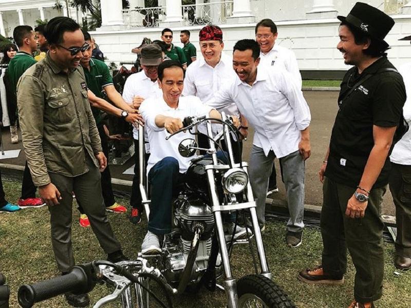 Jokowi Beli Motor Chopper Emas Rp140 Juta Hari Ini Tiba Di Istana