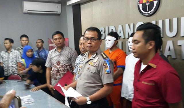 Humas Polda Surabaya (Foto: Syaiful Islam/Okezone)