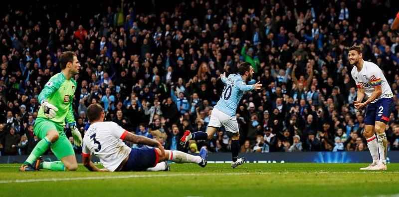 Man City Ditahan Bournemouth 1-1 di Babak Pertama