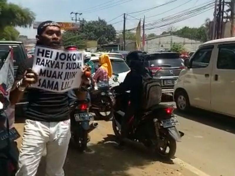 Polisi : Pria yang Hina Jokowi di Bogor Anggota FPI