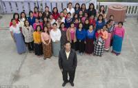 <i>Wow</i>! Pria Ini Bisa Menyatukan 39 Istrinya dalam Satu Rumah, Begini Sistem Rotasinya