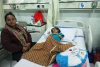 Kasihan, Idap Tumor Ganas di Dalam Perut, Balita Gevira Hanya Terbaring Lemas