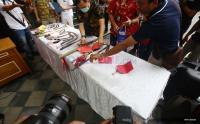 Puluhan Senjata Tajam di Sukabumi Dimusnahkan Petugas
