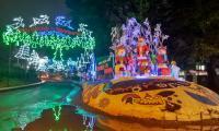 Sambut Tahun Baru, Lampu Warna Warni Hiasi Kota Batu