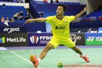 Anthony Ginting Singkirkan Chen Long di Babak Pertama Malaysia Masters 2018