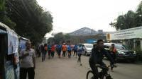 Ikuti Sandi Lari di Cakung, Wartawan Tak Kuasa Mengejar