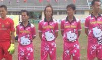 Lucu, Jersey Tim Sepakbola Ini Berwarna Pink dengan Gambar Hello Kitty