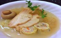 Sarapan Sehat & Lezat dengan Sup Dadar Gulung Plus Cumi Jagung Muda