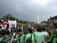 Ribuan Ojol Demo di Depan Gedung DPR, Pengemudi Diminta Hindari Jalan Gatot Subroto