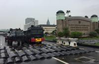 Kendaraan Taktis Siaga Amankan Demo Ojek <i>Online</i> di Gedung DPR