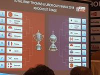 Hasil Undian Perempatfinal Piala Thomas dan Uber 2018