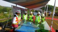Presiden Jokowi Tinjau Pembangunan Waduk Kuningan