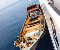 KN Belut Laut Bakamla Tangkap Kapal Muatan Kabel Optik Ilegal