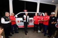 Sumbang Ambulans di HUT ke-28, Nanan: Semua Anggota HDCI Relawan PMI