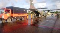 Alat SAR Pendeteksi KM Sinar Bangun di Danau Toba Diangkut Pesawat