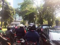 Lalu Lintas di Jalan Sudirman Macet!
