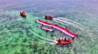 HUT Ke-73 RI, Indahnya Bentangan Merah Putih Raksasa di Tengah Laut Kepri
