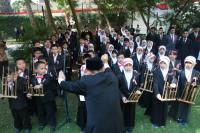 Suara Angklung Meriahkan Perayaan HUT ke-73 RI di Mesir