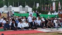 Jokowi Salat Idul Adha di Lapangan Tegar Beriman Bogor