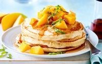 Camilan Sore, Pancake Mangga & Kiwi