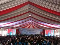 Hadiri Dies Natalis Ke-65 UKI, Jokowi Ajak Rayakan Pemilu dengan Gembira