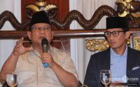 Gerindra Sebut Permintaan Maaf Prabowo-Sandi sebagai Tata Krama yang Berjiwa Besar