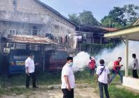 Antisipasi DBD, Caleg Perindo Lakukan <i>Fogging</i> di Ciampea Bogor