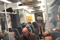 Heboh Pria di Inggris Kencing Sambil Bugil di Kereta