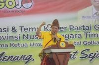 Ketum Golkar: Jokowi Mencintai NTT, Sudah 7 Bendungan yang Dibangun