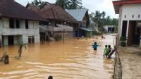 Intensitas Hujan Tinggi, Banjir Rendam Ratusan Rumah di Sarolangun Jambi