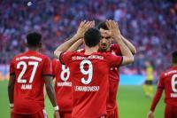 Gasak Dortmund 5-0, Bayern Duduki Puncak Klasemen Liga Jerman 2018-2019