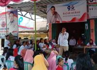 Kurang dari 1 Jam Bazar Sembako Perindo Ludes Diserbu Ibu-ibu