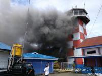 Kantor Kementerian Perhubungan Udara Bandara Nabire Terbakar