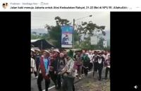 Ribuan Warga Tasikmalaya Disebut Berjalan Kaki Menuju KPU Jakarta, Benarkah?