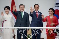 Presiden Korea Selatan Ucapkan Selamat Atas Terpilihnya Kembali Jokowi dalam Pilpres 2019