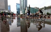 Pasca-Rusuh, Warga Jakarta Kembali Nikmati Car Free Day di Jalan MH Thamrin