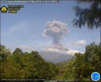 Gunung Agung Kembali Erupsi, Semburkan Kolom Abu 2.000 Meter