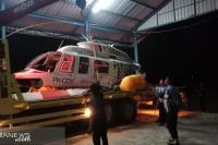 Helikopter yang Jatuh di Lombok Dibawa ke Lanud ZAM