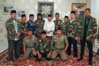 Kader Banser Penuhi Nazar, Jalan Kaki dari Musi Rawas ke Jakarta Temui KH Ma'ruf Amin