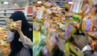 Viral Remaja Perempuan Remas-Remas Mie Instan di Supermarket