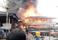 Belasan Rumah di Kawasan Permukiman Nelayan Ludes Terbakar