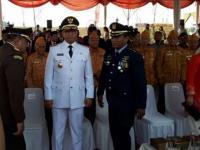 Salah Sebut Usia Indonesia Merdeka Warnai Upacara Bendera di Pulau Reklamasi