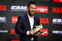 Messi Dapatkan Sepatu Emas Eropa Ketiga Beruntun