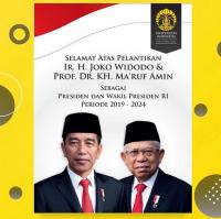IPB hingga UI Ucapkan Selamat pada Presiden Jokowi-Ma'ruf