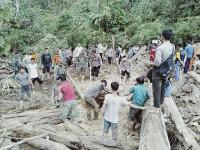 Ayah dan Anak Tertimbun Tanah Longsor di Rokan Hulu Riau