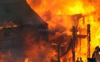 Belasan Rumah Terbakar, 7 Petugas Damkar Cedera