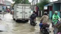 Dua Jam Diguyur Hujan, Jalan Penghubung Makassar-Maros Tergenang