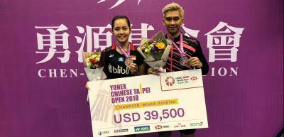 Alfian Gischa Sambut Positif Gelar Juara di Taiwan Open 2018